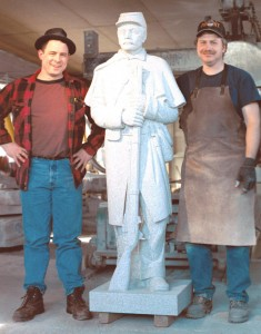 Clint Button (Right) with Master carver and Finisher Andy Hebert (Left) March 2003