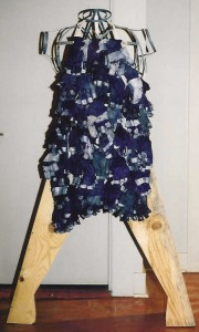 "Apron by AC Button, 2001 for SPA's ""Stone"", Barre VTApprenticeship gloves, lumber & banding"